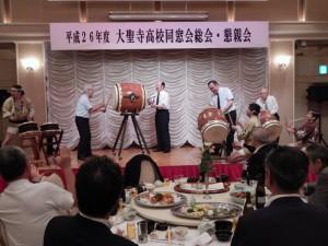 新旧会長による太鼓の演奏6